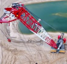 Aerial view of crane