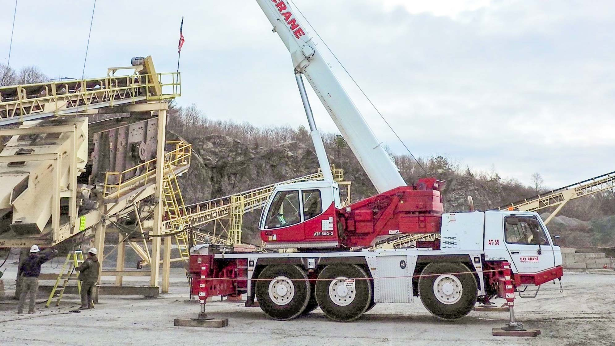 ATF 50G crane with a hydraulic expandable