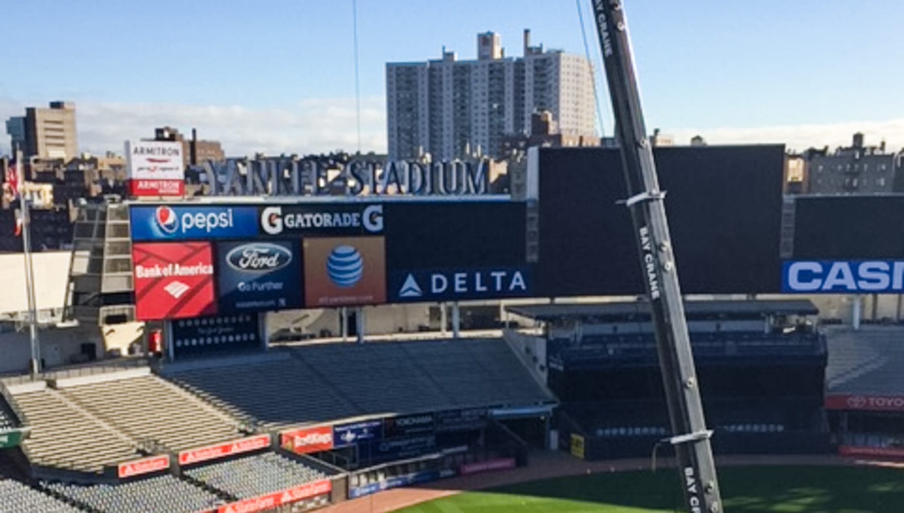 Crane in Yankee Stadium