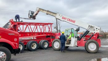 Gradall forklift and Bay Crane staff