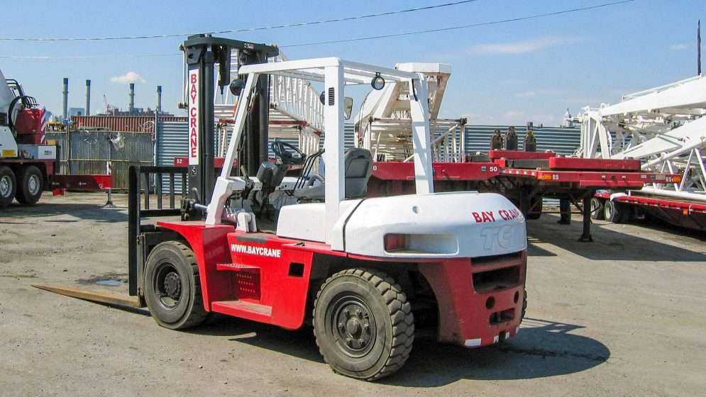 TCM FD70 forklift in parking lot